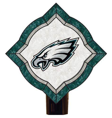 Philadelphia Eagles Vintage Art Glass Nightlight