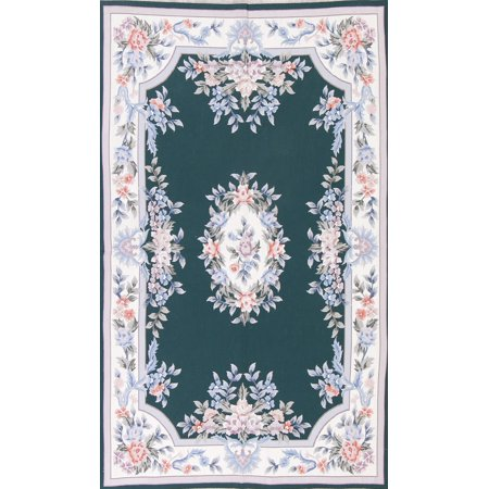 Sensations Chinese Wool (Aubusson Chinese Medallion Oriental Hand Woven Wool Area Rug)