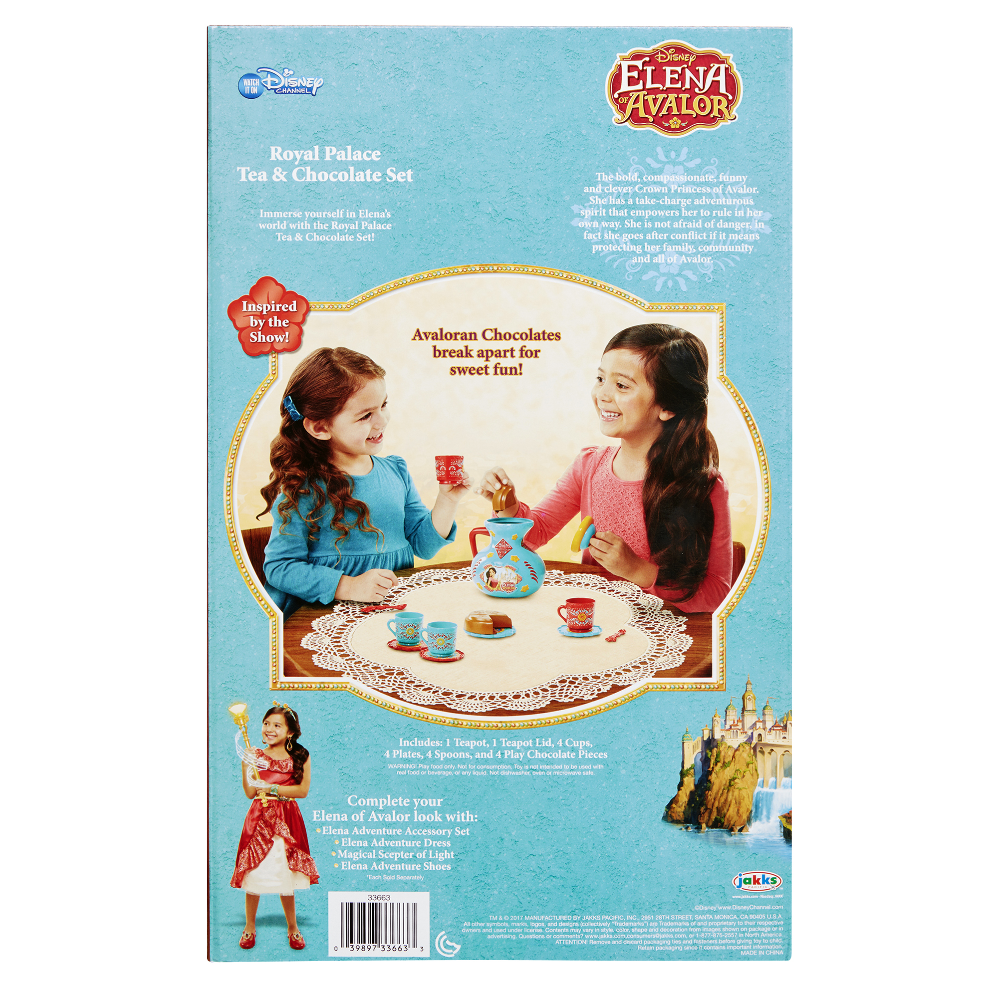Disney Elena Of Avalor Royal Palace Tea And Chocolate Set