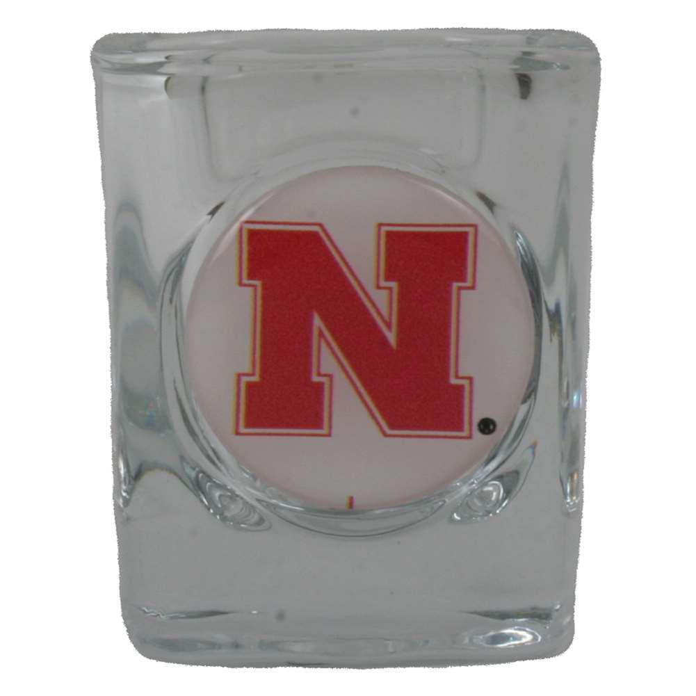 Nebraska Cornhuskers Shot Glass - Square 2oz