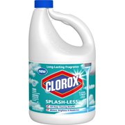 Clorox Splash-Less Liquid Bleach, Clean Linen Scent, 116 Ounce Bottle