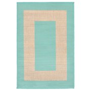 Liora Manne Terrace 1786/93 Border Turquoise Area Rug 23 Inches X 35 Inches