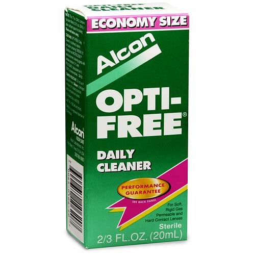 Alcon Opti-Free Daily Cleaner for Soft Contact Lens Care, .66 fl oz