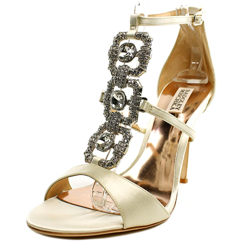 Badgley Mischka Allie Open Toe Canvas Sandals by Badgley Mischka