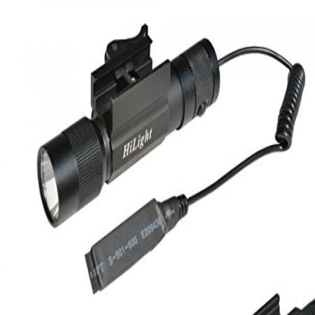 aimkon hilight r20 hilight 600 lumen led tactical flashlight with smart pressure switch and quick detachable rifle mount,