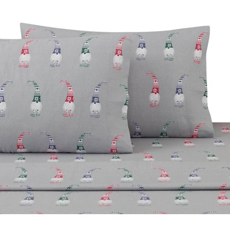 Your Zone Gnome Flannel Sheet Set Walmart Com Walmart Com