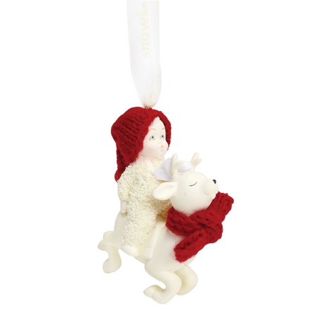 Department 56 Snowbabies 6001985 Reindeer Rides Ornament 2018