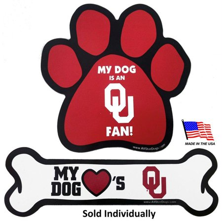 Oklahoma Sooners Car Magnets - Paw (Oklahoma Sooners Decal)
