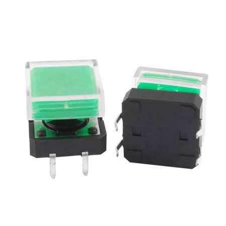 Lighting Accessories Black Square Cap Momentary Push Button Tactile Tact Switch 12 X 12mm 4 Pin