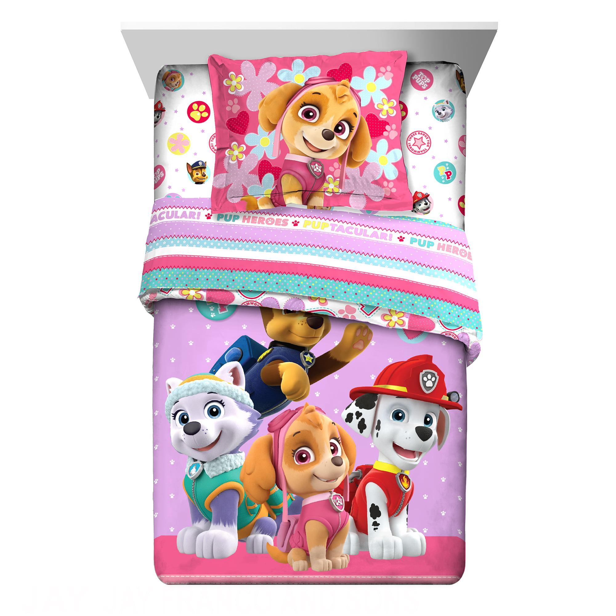 PAW Patrol 2-Piece Comforter and Sham Set, Kids Bedding ...
