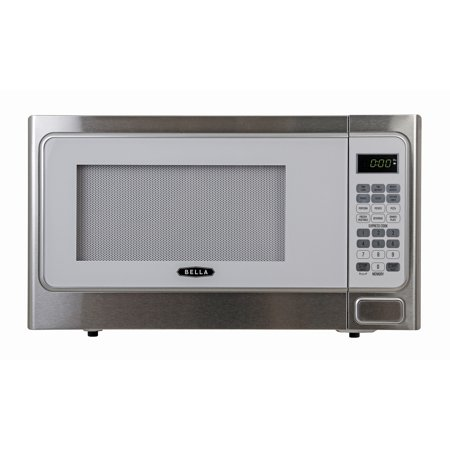Bella Bmo11abtwhc 1 Cubic Foot 1000 Watt Microwave Oven White With Stainless Steel