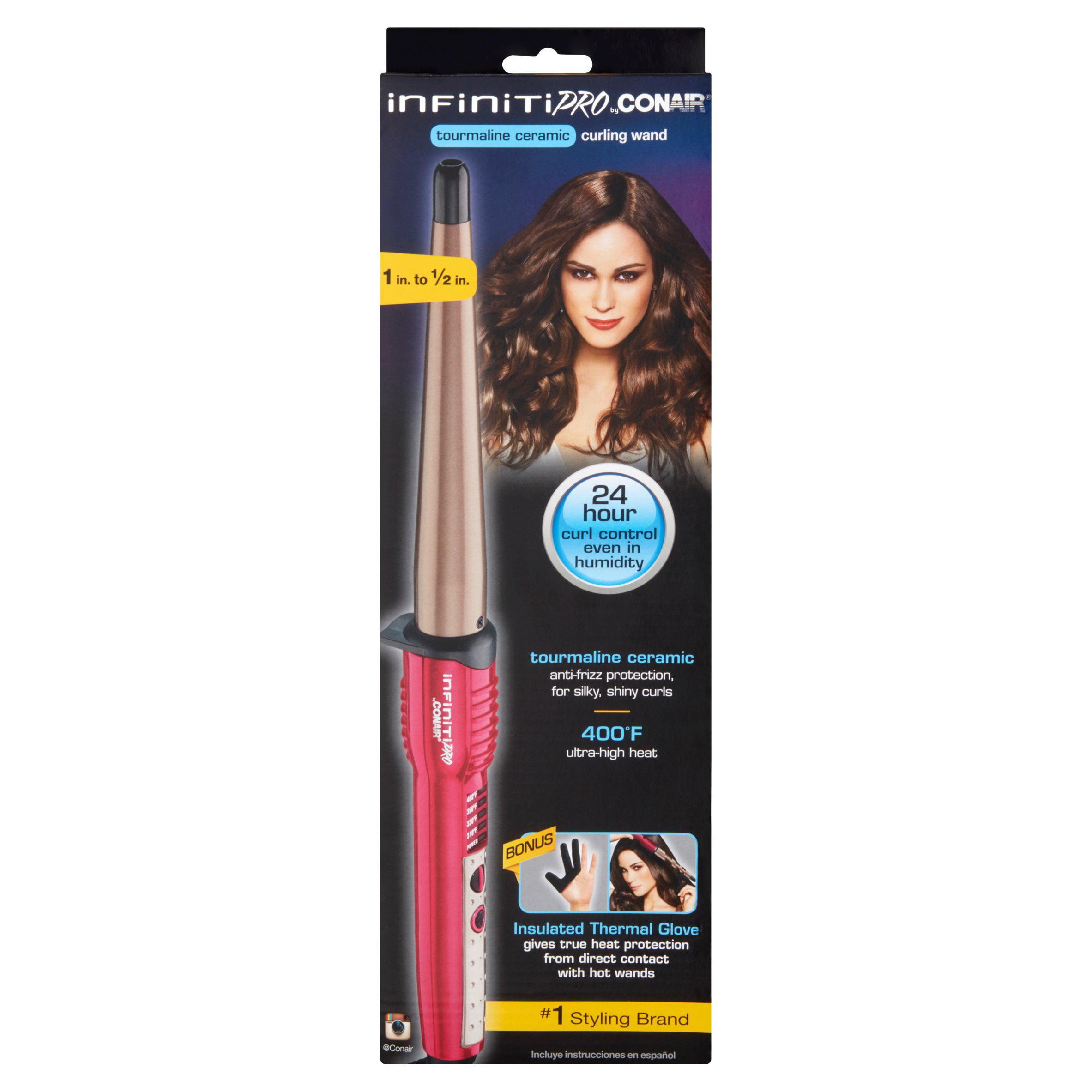 Revlon Salon High Heat Hair Curling Iron Ball Wand - Walmart.com