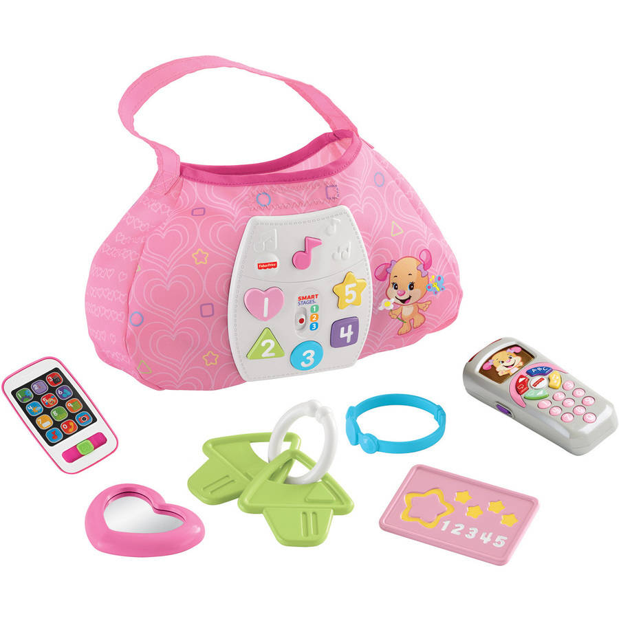 Image of Fisher Price Laugh and Learn Sis' Smart Stages Purse, Sis' Remote and Pink Smart Phone