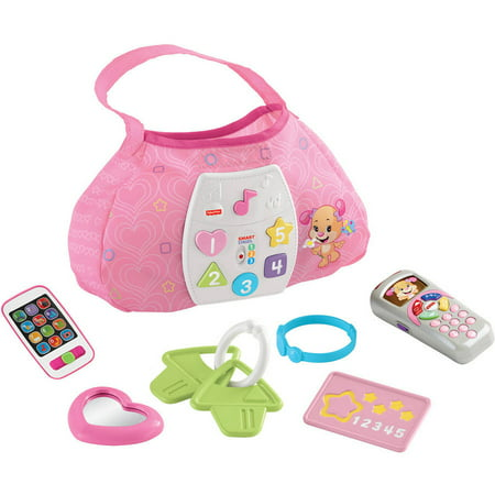 Fisher Price Laugh   Learn Sis Smart Stages Purse  Sis Remote And Pink Smart Phone
