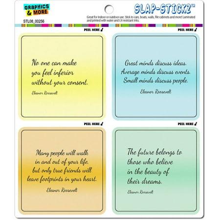 Eleanor Roosevelt Inspirational Quotes Automotive Car Window Locker Bumper  Stickers