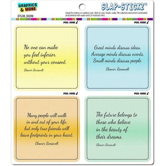 Eleanor Roosevelt Inspirational Quotes Automotive Car Window Locker
