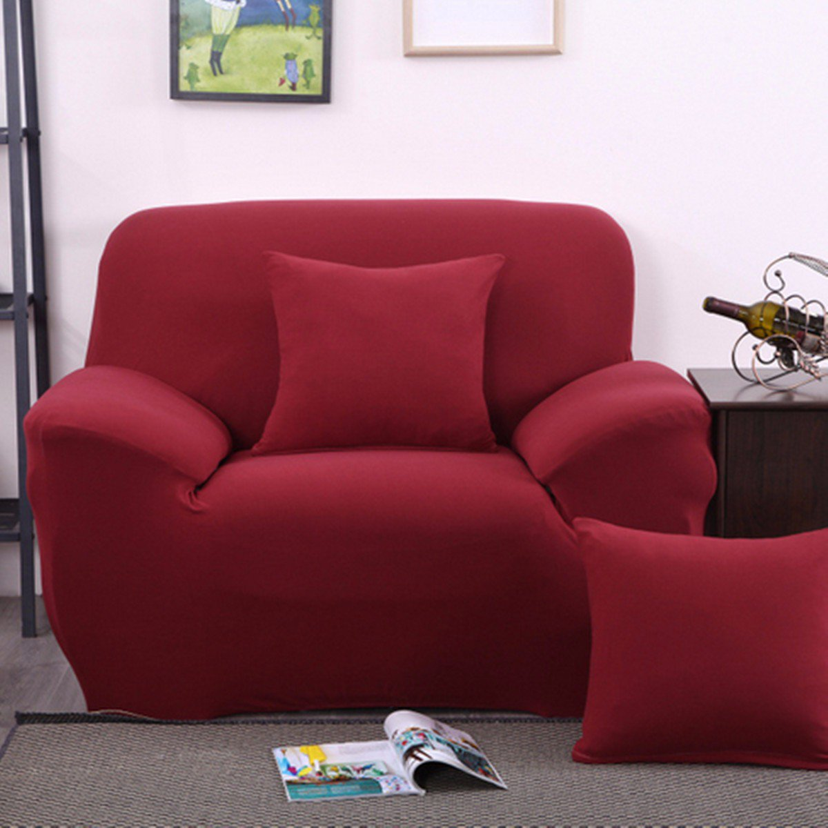 Elastic Stretch Fabric Sofa couchcover Furniture Slipcover Pet Dog  Sectional Corner Couch Covers Fit One Seat Sofa