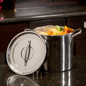 McSunley Prep-N-Cook 6 qt Stainless Steel Stockpot
