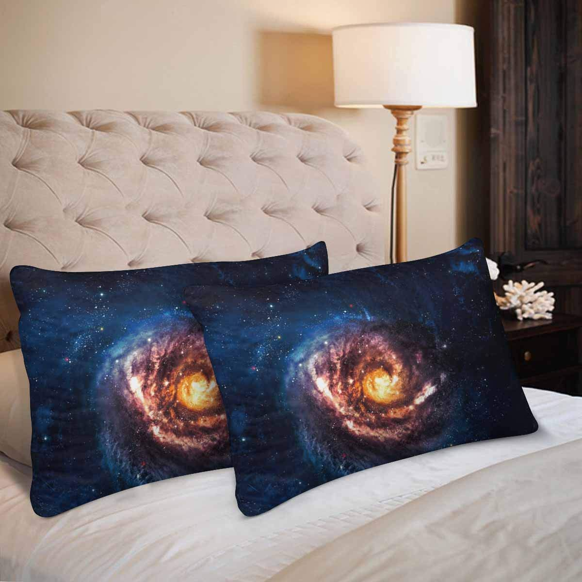 GCKG Beautiful Spiral Galaxy Somewhere Deep Space Pillow Cases Pillowcase 20x30 inches Set of 2 - image 1 de 4