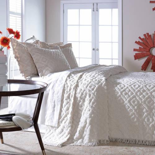 Belle Maison Diamond Tufted Chenille Bedspread