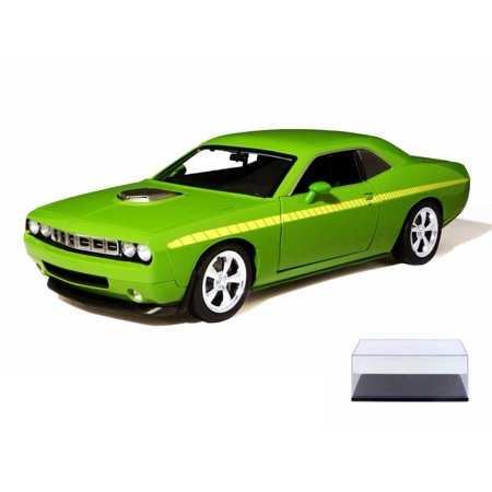 Diecast Car & Display Case Package - Plymouth Cuda Concept Hard Top, Sublime Green - Highway 61 50840 - 1/18 scale Diecast Model Toy Cars w/Display Case