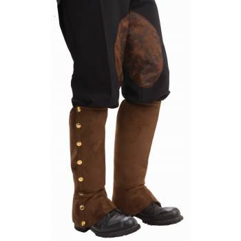 STEAMPUNK BROWN SUEDE SPATS](Steampunk Accessories For Sale)