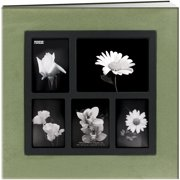 "Pioneer Faux Suede Collage Frame Post Bound Album 12""X12""-Green"