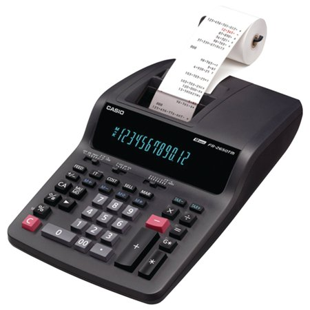 FR-2650TM 2-Color Professional Desktop Printing Calculator, Digits FR2650TM Print R DR250HD Calculator HR100TM DR270TM Compact 12Digit Printing FR2650TWC 12.., By Casio