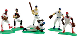6pc Baseball Team Cake Adornments 1 set (2.5 inches)