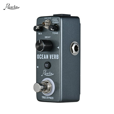 Taupe Shimmer (Rowin Ocean Verb Digital Reverb Guitar Effect Pedal 3 Modes ROOM/ SPRING/ SHIMMER Aluminum Alloy Shell True Bypass )