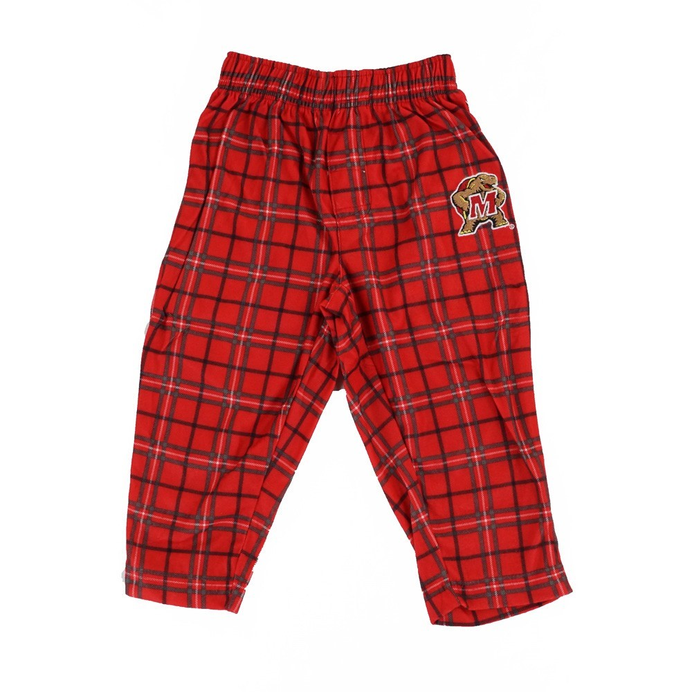 Maryland Terrapins NCAA Team Logo Plaid Knit Long Sleeve Pants Toddler (2T-4T)