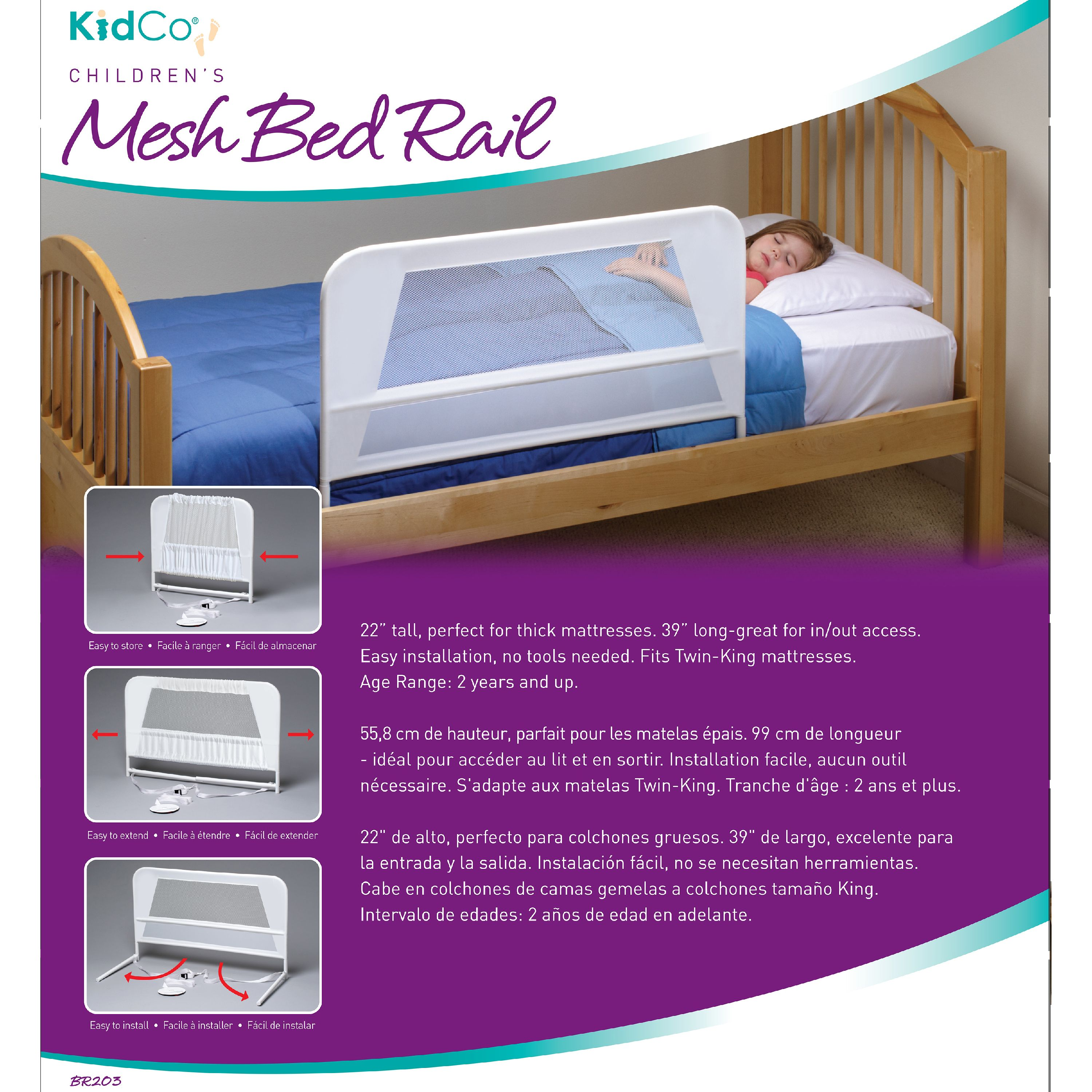 KidCo Children's Mesh Bed Rail 2PK   Walmart.com