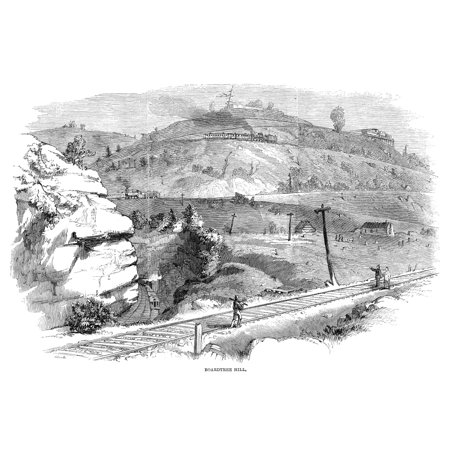Baltimore & Ohio Railroad Nthe Baltimore & Ohio Railroad Pass At Board Tree Hill In Littleton West Virginia Wood Engraving American 1861 Poster Print by Granger Collection