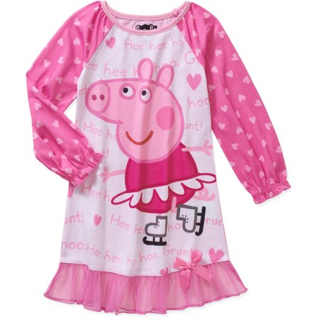56053e63d0 Peppa Pig - Komar Kids Little Girls  Peppa Pig Long Sleeve Skating Gown -  Walmart.com