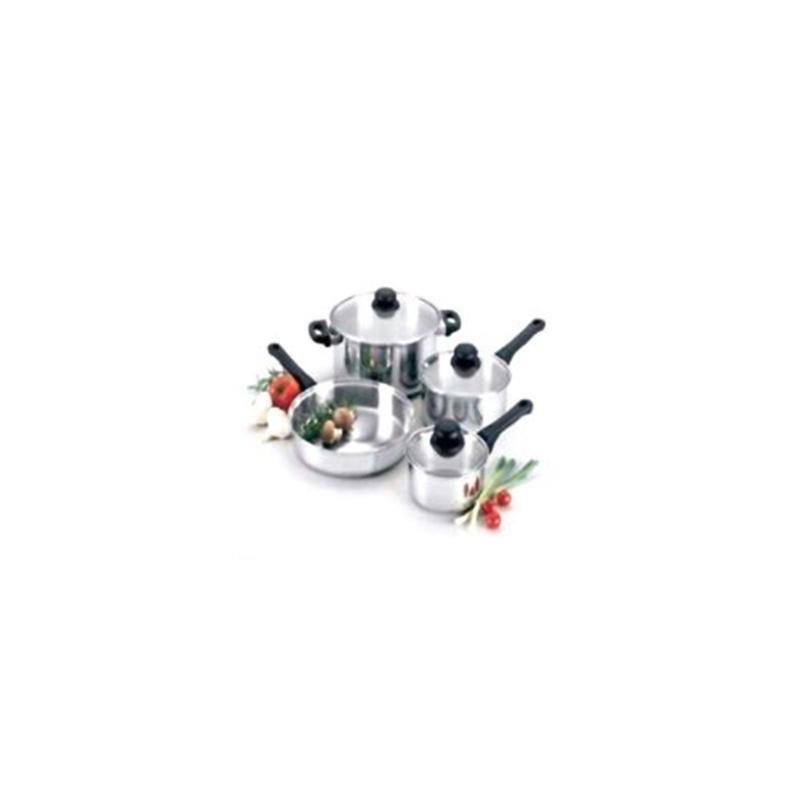 Regalware Food Service Lodging Economy 7-piece Stainless Steel Cookware Set with Glass Covers