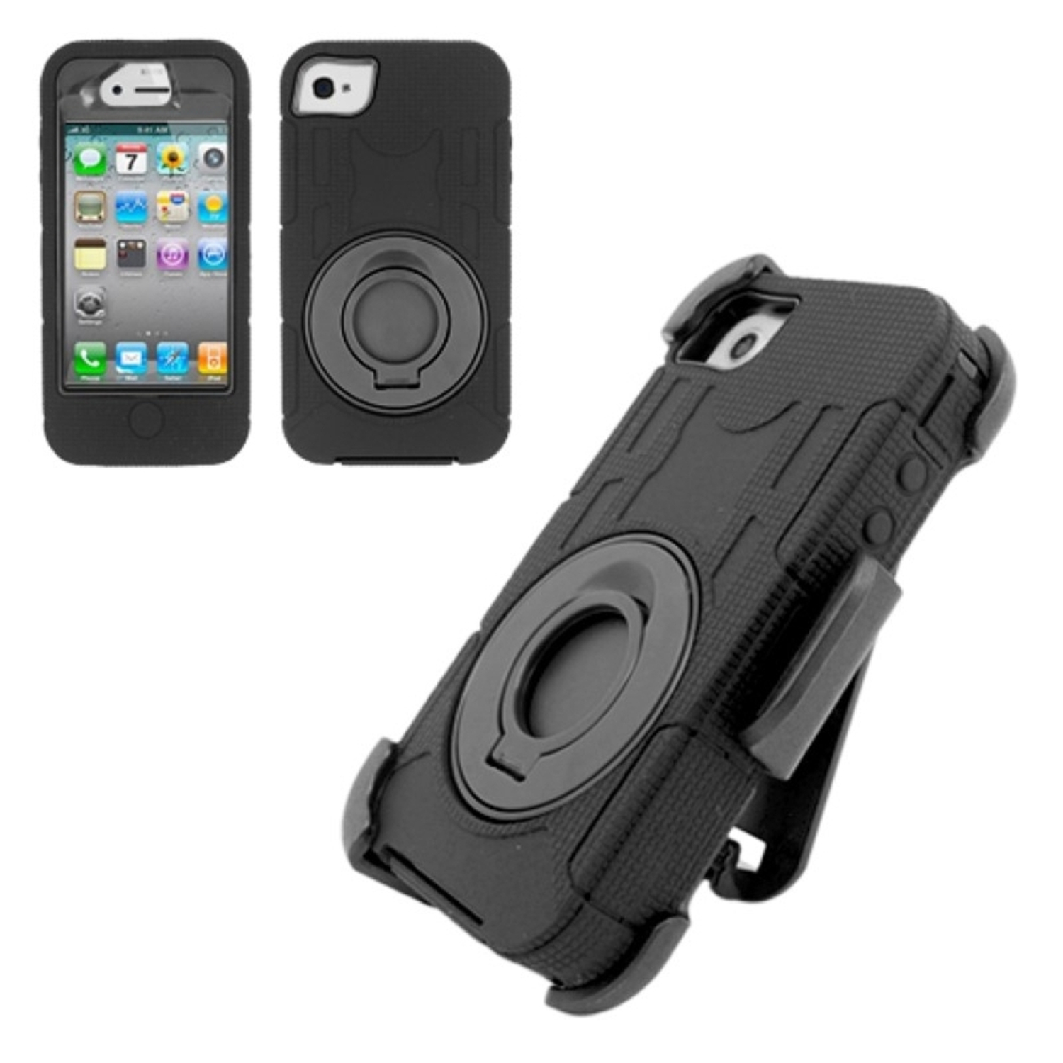 apple iphone 4s insten for iphone 4 4s heavy duty trac combo cover 2028
