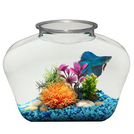 Hawkeye 2-Gallon Fish Bowl Deco, Break-Resistant Plastic 12