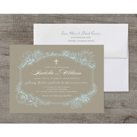 Rustic Garden Deluxe Wedding Invitation](Black And White Wedding Invitations)