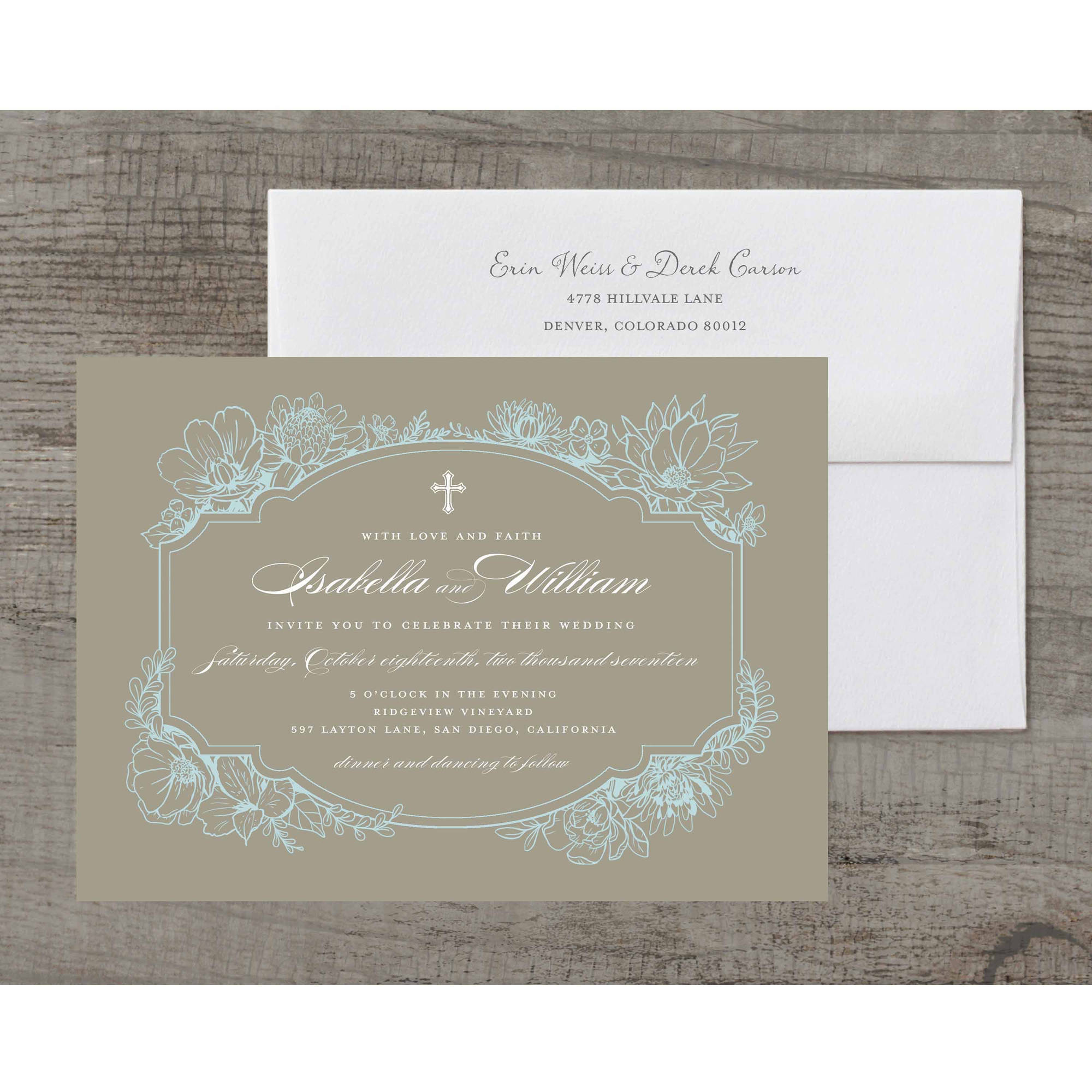 Rustic Garden Deluxe Wedding Invitation