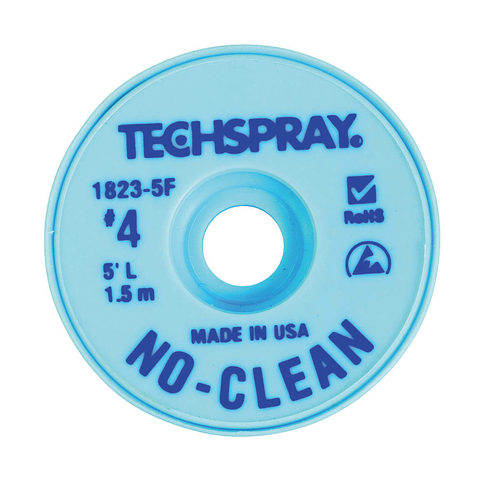 TECHSPRAY No-Clean Blue #4 Braid - AS 1823-5F