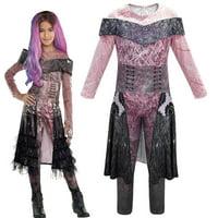 Descendants 3 Audrey Mal Costume Jumpsuit Halloween Cosplay Fancy Dress Outfits