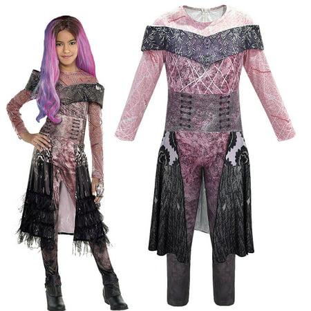 3 Friends Halloween Costumes (Descendants 3 Audrey Mal Costume Jumpsuit Halloween Cosplay Fancy Dress)