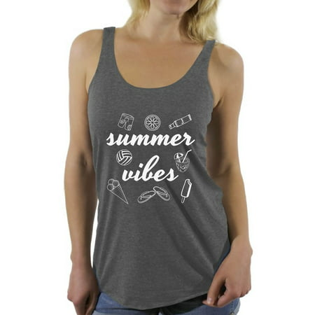 ac1917a9dc8f Awkward Styles Summer Vibes Racerback Tank Top for Women Vacation Shirts  Summer Beach Tank Top Summer Vacation Racerback Top Cute Gifts for Summer  Beach ...