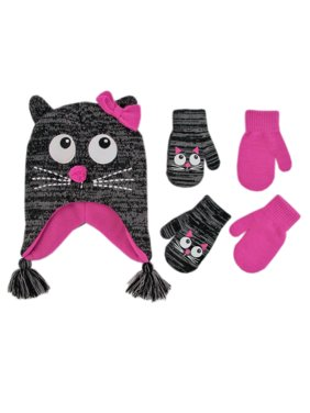 9e1cf434c7aac Product Image ABG Accessories Critter Hat and 2 Pair Mittens Cold Weather  Set