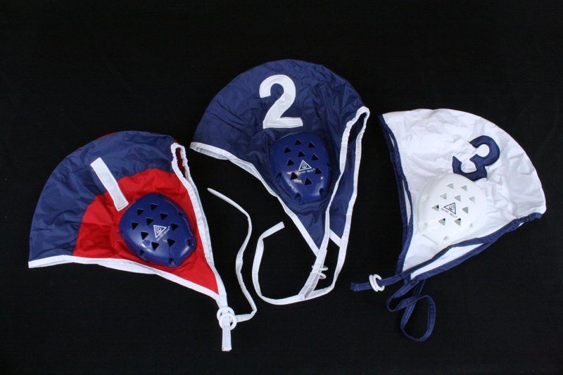 Water Gear 51500 Navy Water Polo Cap-White w  Navy Trim #15 by