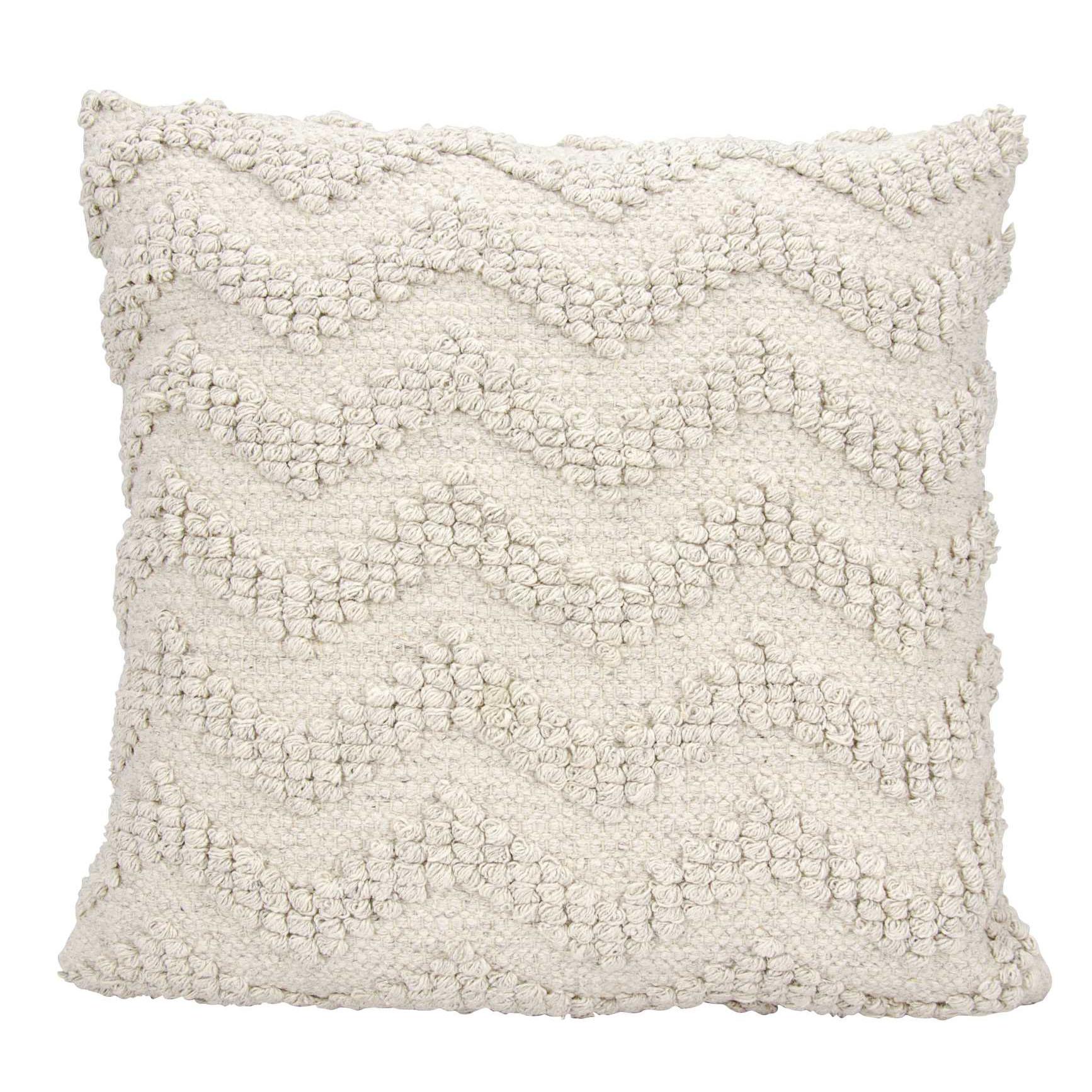 Nourison Loop Chevron Linen Throw Pillow