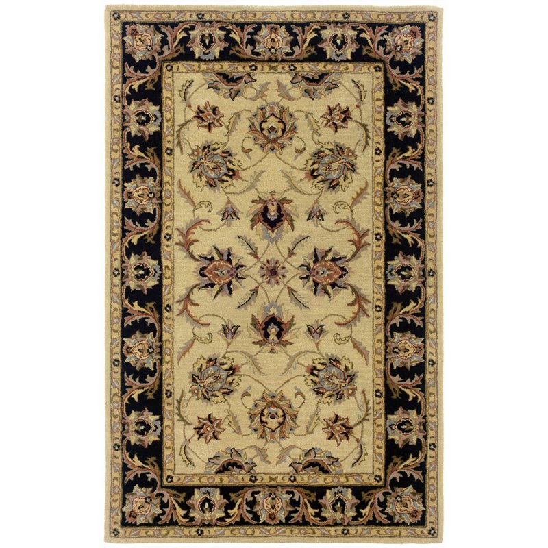 Sphinx Windsor Area Rugs - 23105 Traditional Oriental Ivory Persian Vines Leaves Border Rug