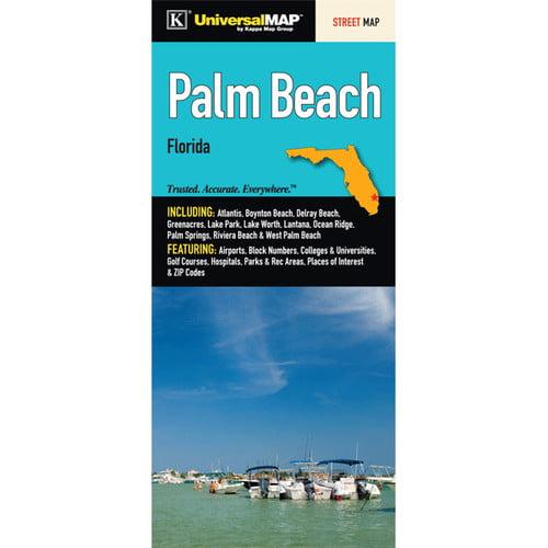 Map Of Palm Beach Florida.Universal Map Palm Beach Florida Fold Map Walmart Com