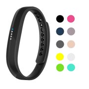 Fitbit Flex 2 Bands Replacement Wristband Accessories Classic TPU Material Sport Strap for 2016 Fitbit Flex 2 Fitness tracker(Large, Black)