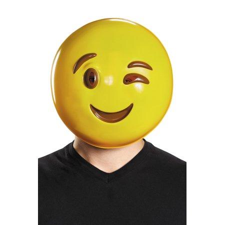 Emoticon Wink Mask Halloween Costume Accessory